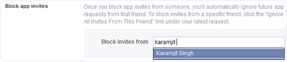 Block Games Requests On Facebook For Particular Person