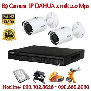 Trọn bộ 2 camera IP Dahua 2.0 MP