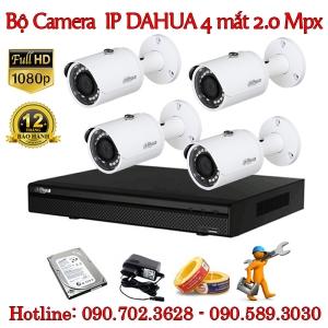 Trọn bộ 4 camera IP Dahua 2.0 MP