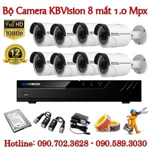 Trọn bộ 8 camera KBvision 1.0 MP